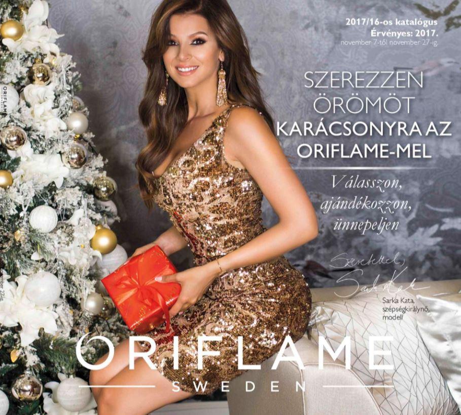 Oriflame aktuális 16-os karácsonyi katalógus